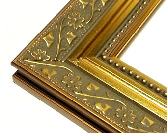 Ornate Gold Picture Frame, Wildflower Motif, Photo Frame Ornate 4x6 5x7 8x10 8 1/2x11 10x12 12x12 11x14 16x20 18x24 20x24 23x27 24x30 24x36