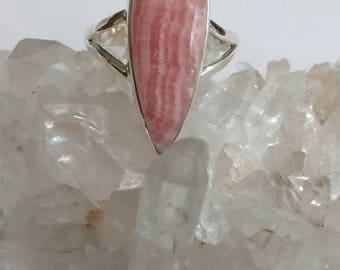 Rhodochrosite Ring Size 10 1/2