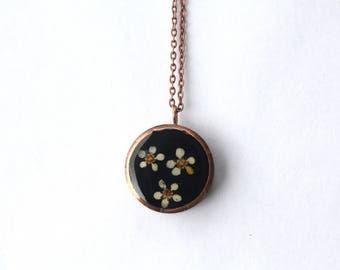 Flower Copper Pendant Necklace