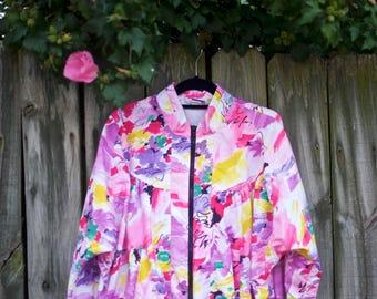 Vintage Floral Bomber Jacket