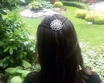 Lace Hair Pins - Set of 3 - Beaded Flower Hair Pins - Flower Girl Hair Pins - Flower Hair Pins - Flower Bobby Pins - Pearl flower - 3 pcs.