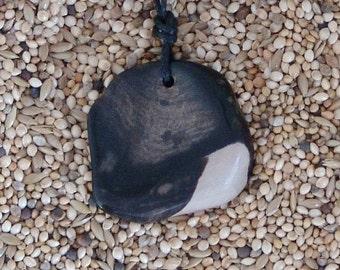 Australian petrified wood pendant