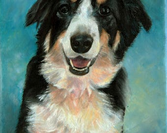 Custom oil portrait, dog lover gift, dog portrait, oil portrait, commission painting, photo to painting, portrait from photo, pet portrait
