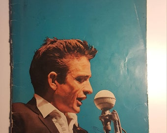Johnny Cash Show Souvenir Picture and Song Book from 1966