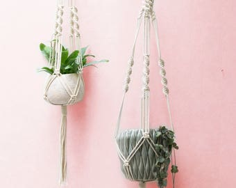 Macrame Plant Hanger - Knotted Plant Hanger - Hanging Planter - Macrame Plant Holder - Pot Hanger - Macrame Planter - Dip-dye Colors - LILY
