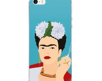 Frida Portrait, Frida Kahlo, illustrated customized iPhone Case