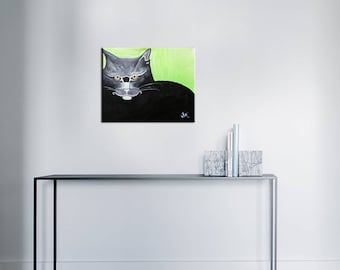 Acrylic painting - cat