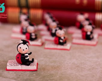 Personalized Favors / Graduation Party / Gift Idea / Handmade Red Ladybug / Graduation Gift / Handmade Creation