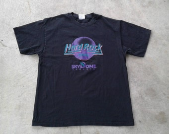 Vintage 80's 1989 Hard Rock Cafe Toronto Sky Dome Made in USA by Hanes Large