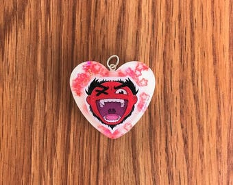 CaRtOoNz Resin Heart Charm or Pendant