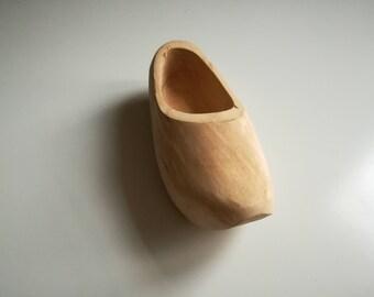Vintage Scandinavian a wooden shoe