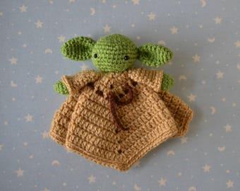 Doudou Yoda, star wars, doudou, blanket baby attachment, star wars baby, Yoda, gift for baby