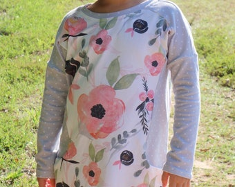 Girls fall outfit - girls dress with pockets - fall clothes for girls - school dress - fall dress for girls - toddler fall outfit
