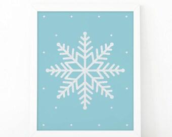 Snowflake christmas, Christmas print, Sparkle wall art, Christmas decor, Snowflake print, sparkle print, Chritsmas printable, printable art