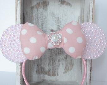 Minnie Mouse Headband, Pink Minnie Headband, Minnie Mouse Ear Headband,Minnie Costume,Mnnie Headband, Minnie Ears , Minnie Birthday Headband