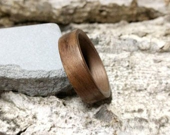 American walnut bentwood ring