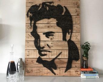 Elvis Presley - Portrait - String Art - Reclaimed Pallet Wood Wall Art - Handmade -PopArt