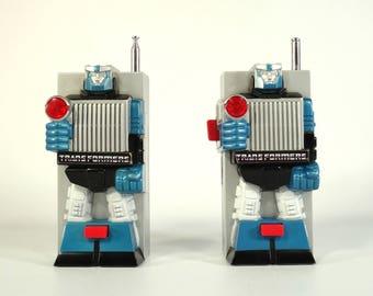 Vintage Walkie Talkie / Transformers Walkie Talkie / Transformers 1983 / Hasbro Transformer G1 / Soundwave  Walkie Talkie