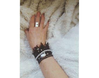 Black multi strand bracelet