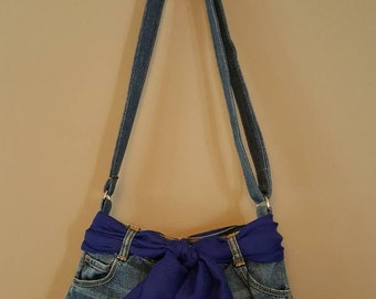 Blue Jean Skirt Purse (Stock #152)
