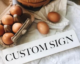 Custom Sign- Shelf Sitter | Rustic Signs | Rustic Decor | Farmhouse Signs | Farmhouse Decor | Farmhouse Chic | Rustic Shelf Decor