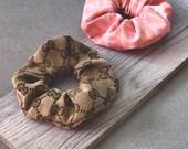 FENDI & GUCCI Scrunchie Set ⋆ 100% Authentic Designer Fabric ⋆ Handmade Womens Hair Tie Accessories High Fashion Streetwear Luxury Brand