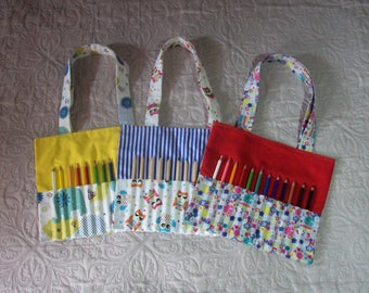 Bag coloring with 12 pencils, 100% cotton, reversible, for your little artists