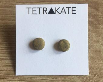 Antique Gold Stud Earrings | Gold Stud Earrings | Minimaliist Earrings | Geometric Stud Earrings | Simple Stud Earrings | Gold Earrings