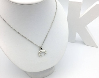 Silver Horn necklace