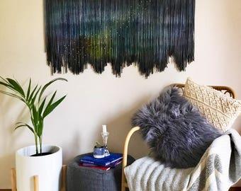 COSMOS Tapestry/ Wall Art/ Fiber Fibre Art/ Wall Hanging/ Modern Macrame/ Handmade/ Wall Decor/ Large Abstract Art/ Moving Textured Canvas