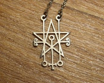 Sceal Sigil of Astaroth Necklace Satan Necklace Lesser Key demon seal pendant  Goetia necklace Lemegeton solomon Seal Lucifer logo symbol