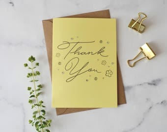 Sunshine Yellow Flower Thank You Card