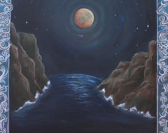 Harvest Moon Original Painting Giclée Print