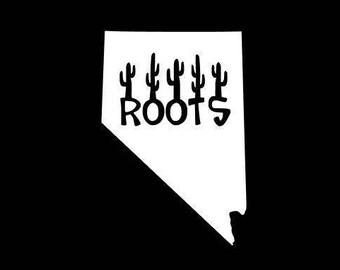 Nevada Roots Decal, Nevada Vinyl Decal, Nevada State Decal, Nevada Sticker, Southwest Sticker, Howetown Sticker