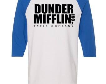 Dunder Mifflin Shirt. The Office Shirt. Baseball Shirt. Michael Scott Shirt. Paper Company Office Shirt. The Office Tv Show Shirt. S - 3XL.