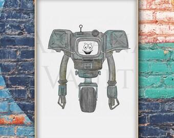 Fallout New Vegas Yes Man Art Print / Poster / Prop / vault boy / video game art / ncr