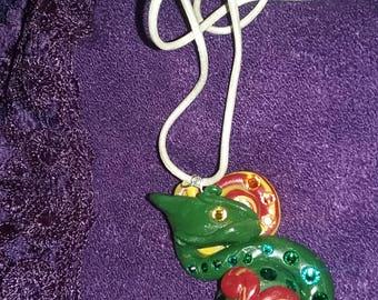Dutiful Dragon Polymer Clay Necklace