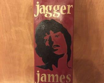 Mick Jagger Skateboard Art