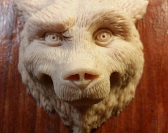 Unpainted Grizzly Bear Magnet
