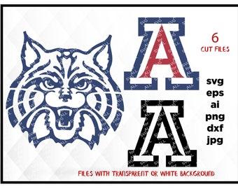 Arizona Wildcats Svg Files, Arizona Wildcats Png, Arizona Wildcats PDF, Arizona Wildcats EPS, Arizona Wildcats DXF Instant Download