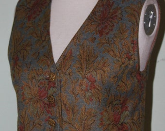 """XS, Cropped, brocade vest, vintage 1970's, 32"""" bust"""