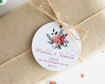 Wedding Thank you Cards, cards, Confetti, 24 Labels Wedding Thanks, customizable labels for Confetti