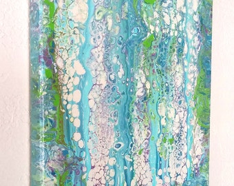 Bubblicious Abstract Acrylic Art Painting on 8 x 10 Canvas