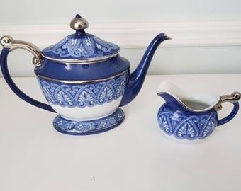 Bombay Porcelain Platinum Rimmed Tea Set