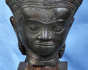 Large Bronze Dancing Female Goddess with original base