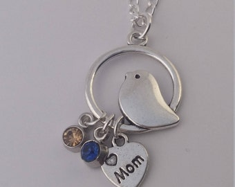 Mothers day charm necklace
