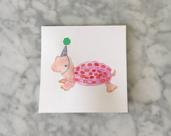 Turtle Party Card