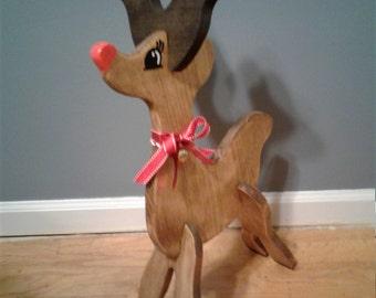 Standing Reindeer decor