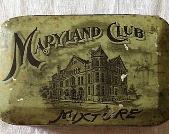 1910-1916 Maryland Club Tobacco Tin