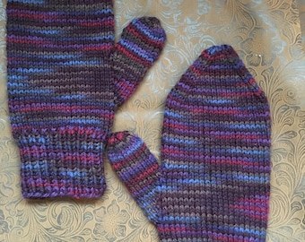 Large Wool Mittens - Women - Palais